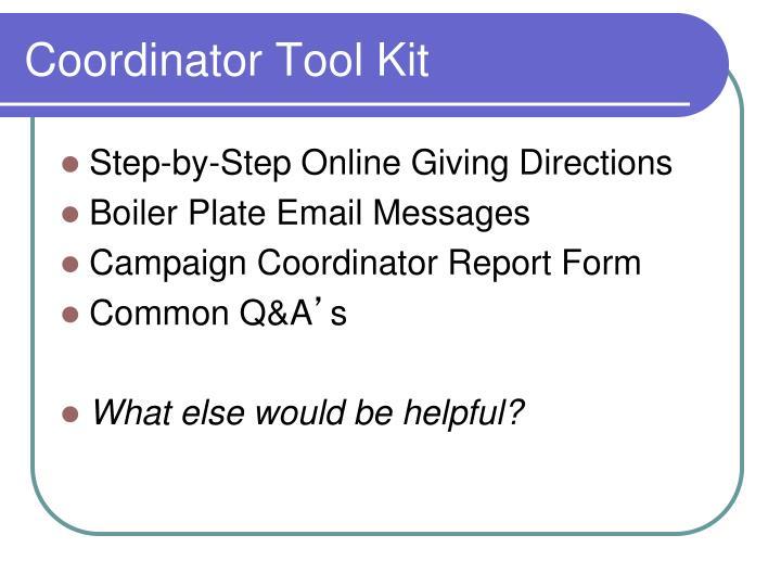 Coordinator Tool Kit
