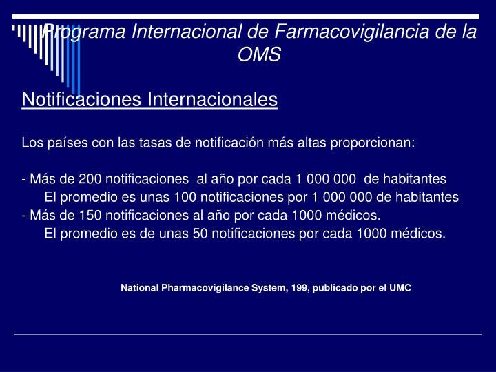 Programa Internacional de Farmacovigilancia de la OMS
