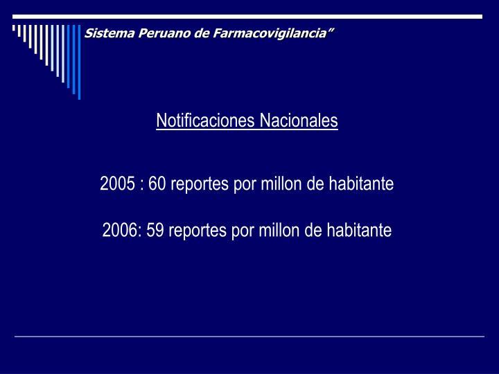 """Sistema Peruano de Farmacovigilancia"""""""
