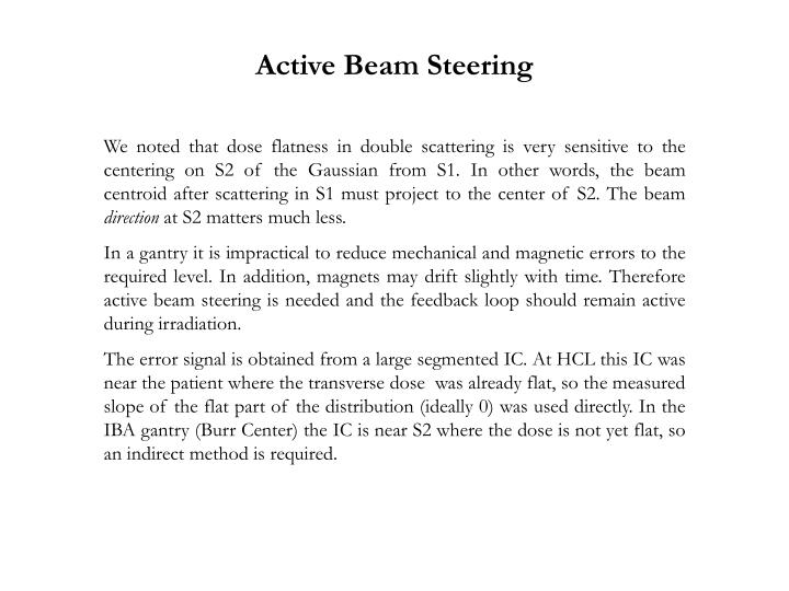 Active Beam Steering