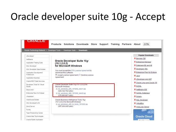Oracle developer suite 10g