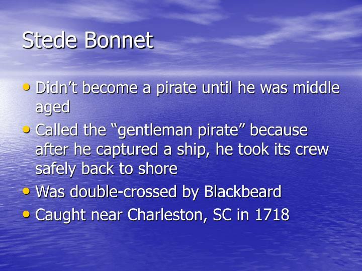 Stede Bonnet