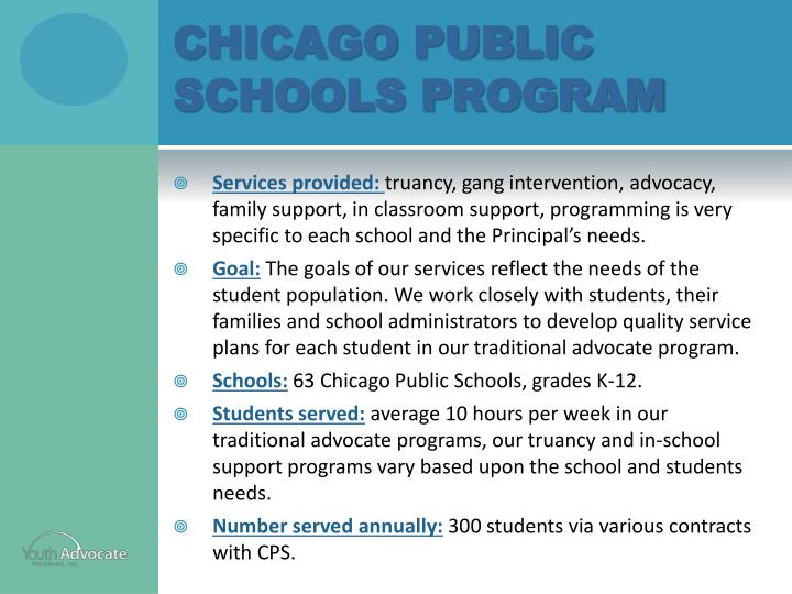 Chicago Public Schools PROGRAM