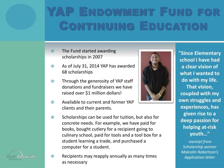 YAP Endowment Fund for Continuing Education
