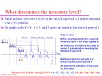 what determines the inventory level
