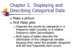 chapter 3 displaying and describing categorical data