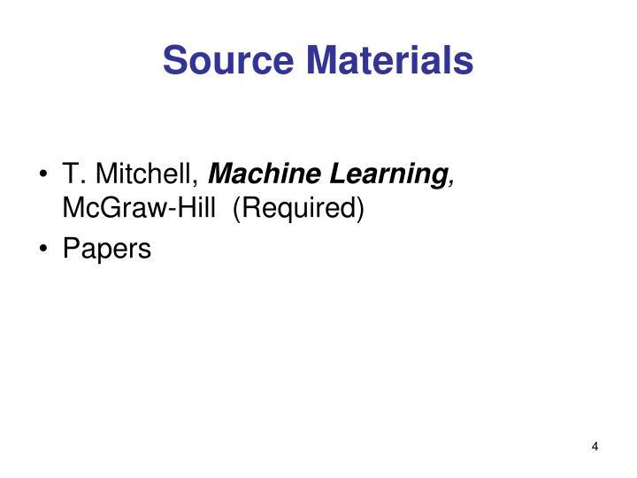 Source Materials