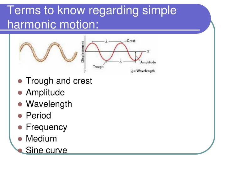 frequency and period have a relationship for simple harmonic motion