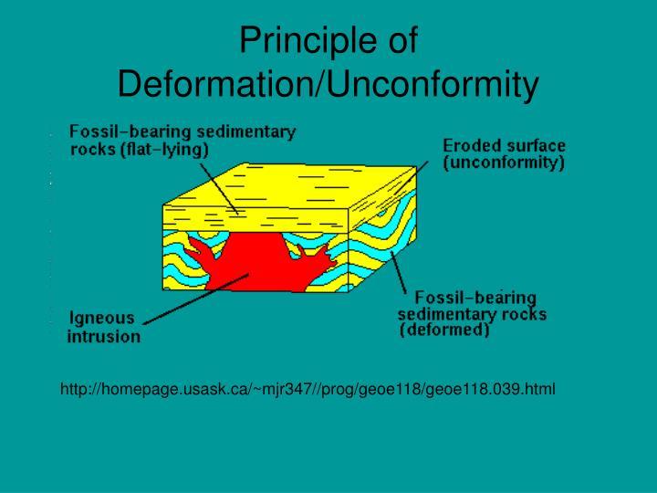 Principle of Deformation/Unconformity