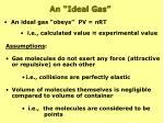 an ideal gas