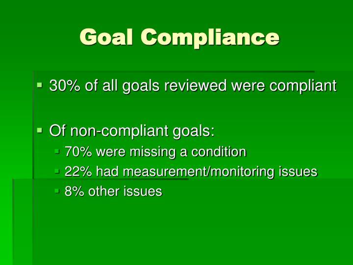 Goal Compliance