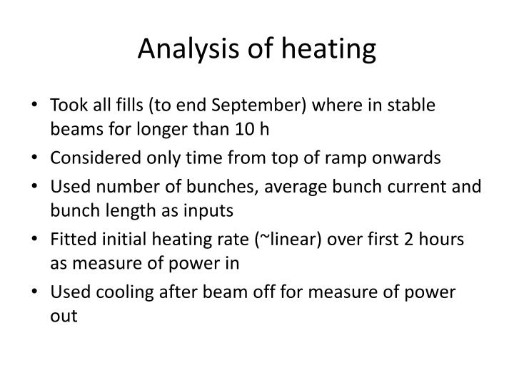 Analysis of heating
