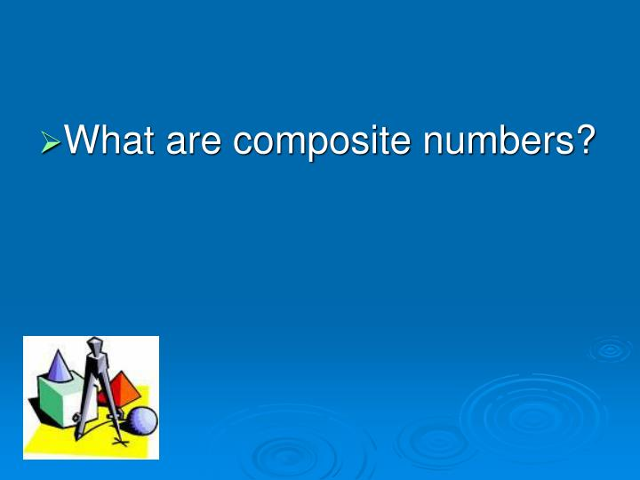 What are composite numbers?