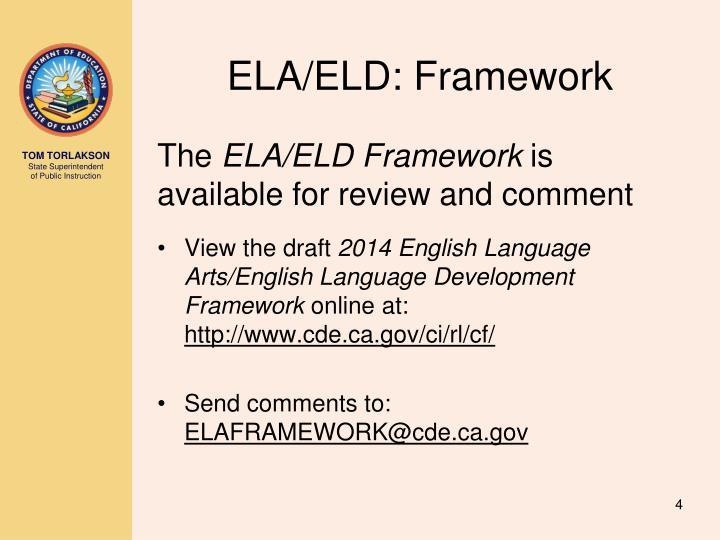 ELA/ELD: Framework