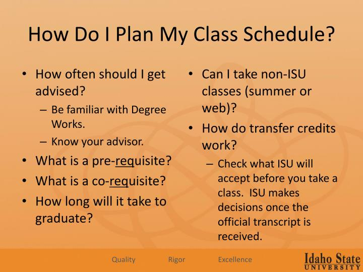 How Do I Plan My Class Schedule?