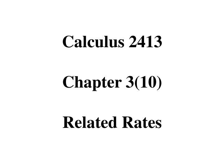 Calculus 2413