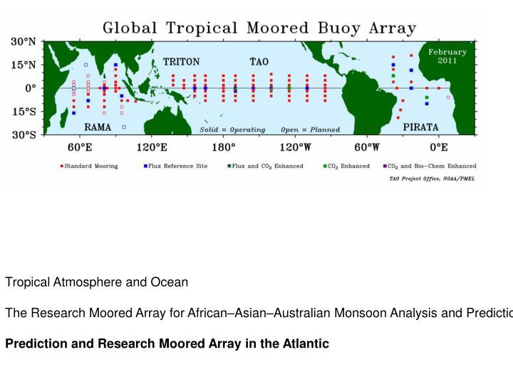 Tropical Atmosphere and Ocean
