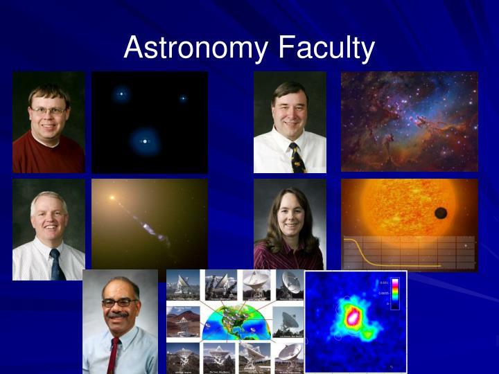 Astronomy Faculty