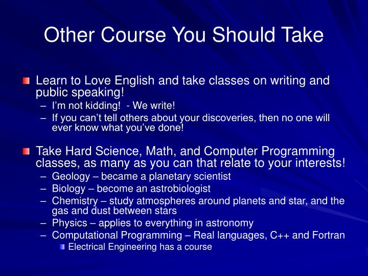 Other Course You Should Take