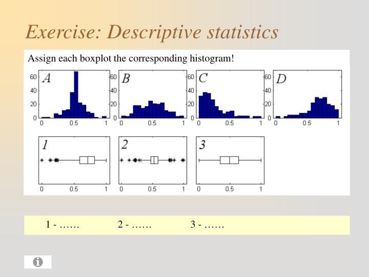 Assign each boxplot the corresponding histogram!