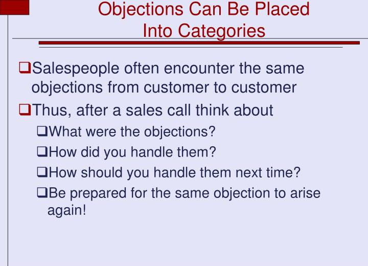 Objections Can Be Placed