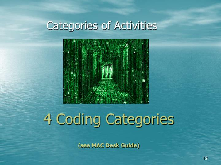 4 Coding Categories