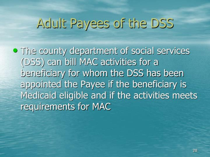 Adult Payees of the DSS