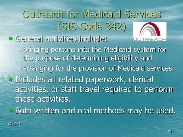 Outreach for Medicaid Services