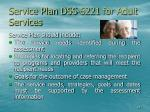 service plan dss 6221 for adult services