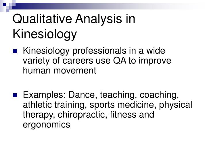 Qualitative Analysis in Kinesiology
