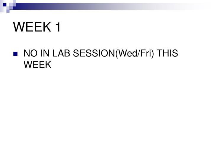 WEEK 1