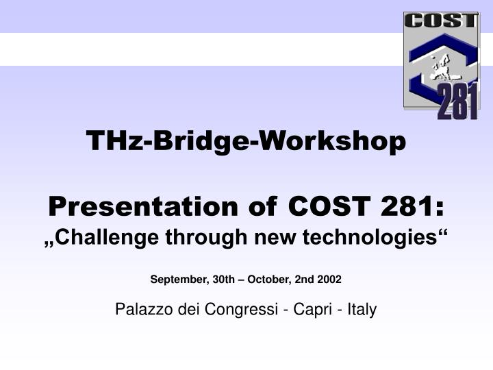 THz-Bridge-Workshop