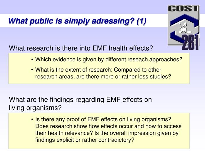 What are the findings regarding EMF effects on living organisms?