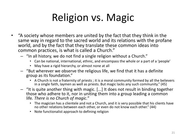 Religion vs. Magic