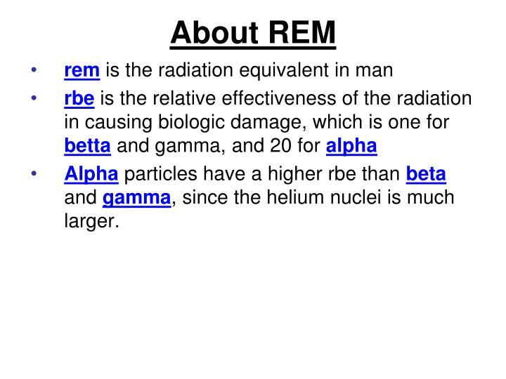 About REM