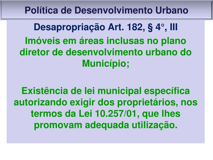 Política de Desenvolvimento Urbano