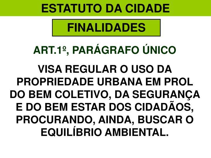 ESTATUTO DA CIDADE