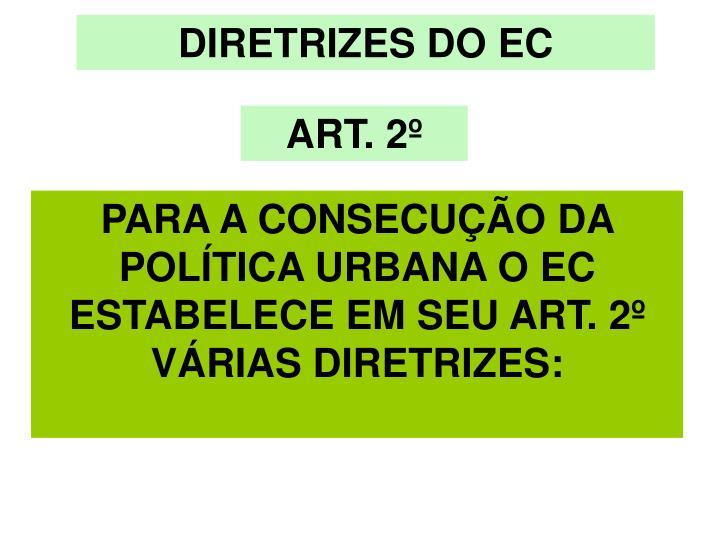 DIRETRIZES DO EC
