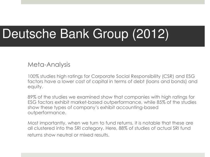 Deutsche Bank Group (2012)