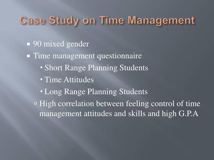 Time management case study questions