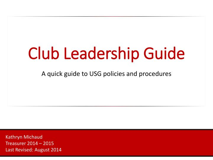 club leadership guide
