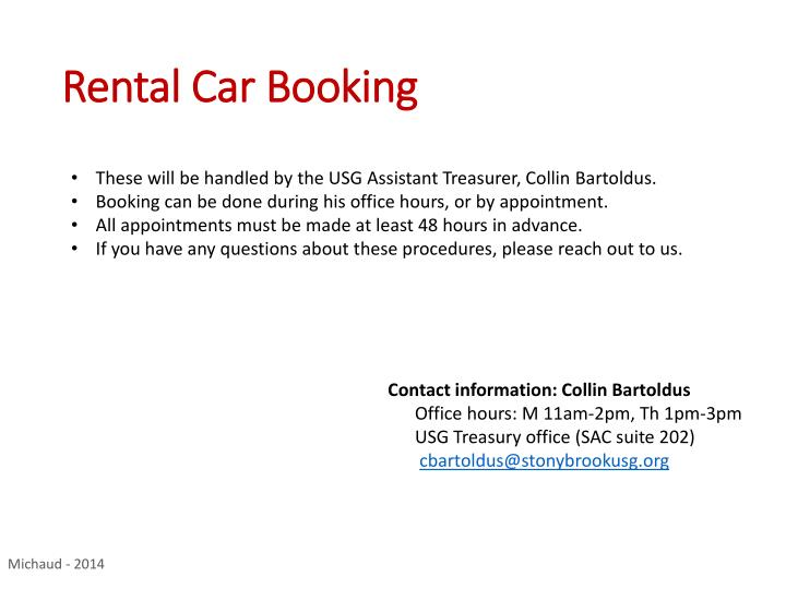 Rental Car Booking