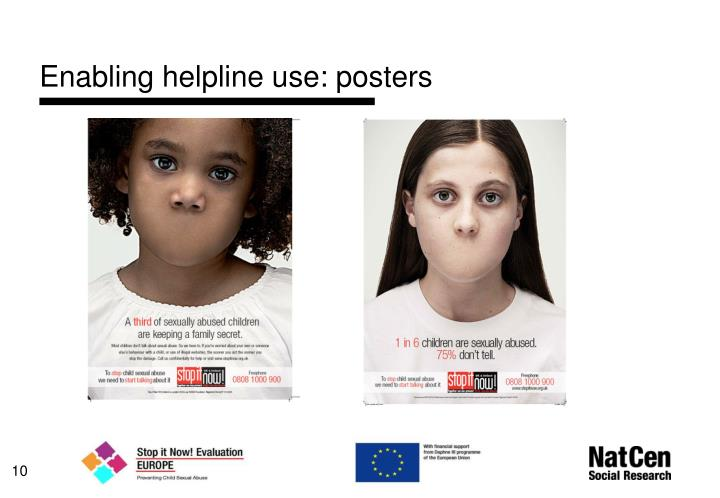 Enabling helpline use: posters