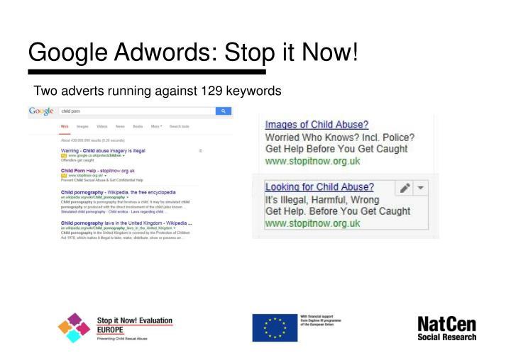 Google Adwords: Stop it Now!