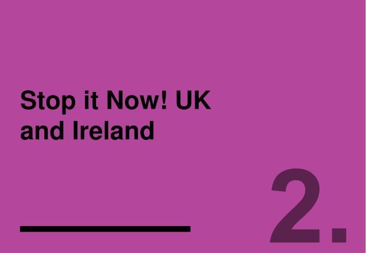 Stop it Now! UK and Ireland