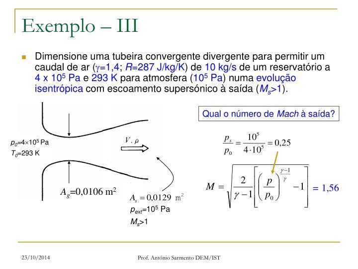 Exemplo – III