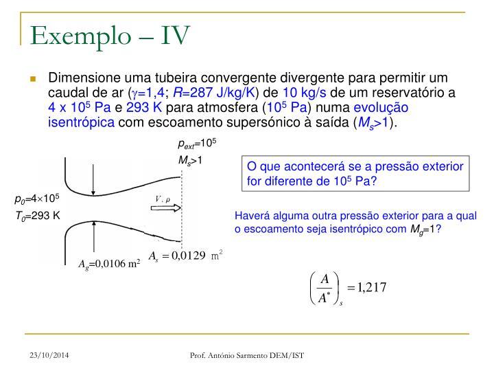 Exemplo – IV