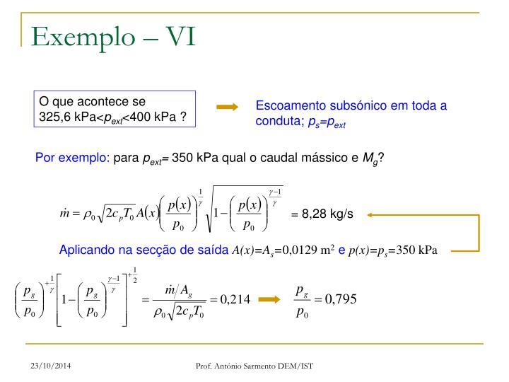 Exemplo – VI