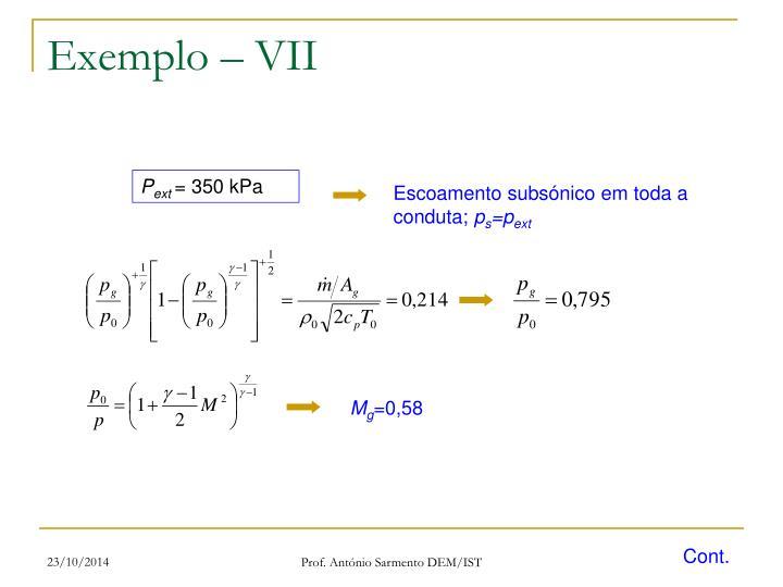 Exemplo – VII