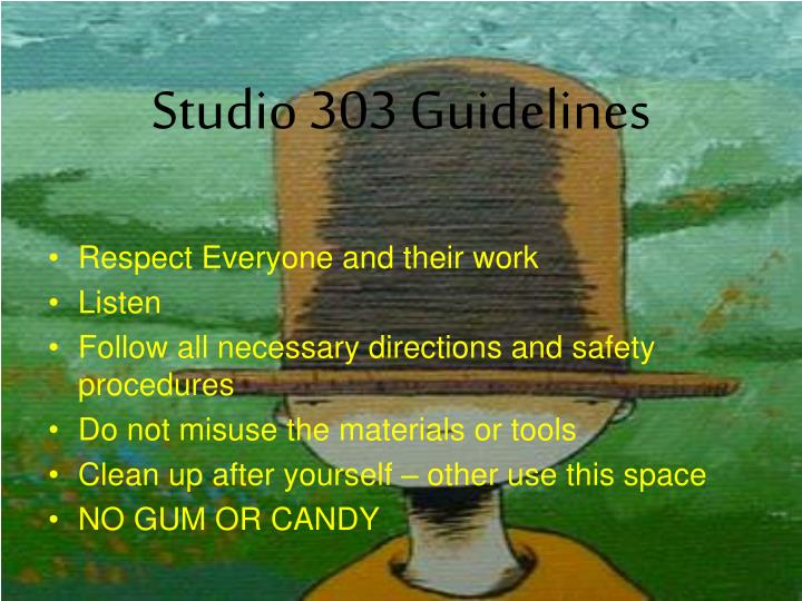 Studio 303 Guidelines